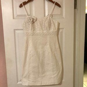 Lilly Pulitzer Dress women`s white NWT 4 Liz Dress